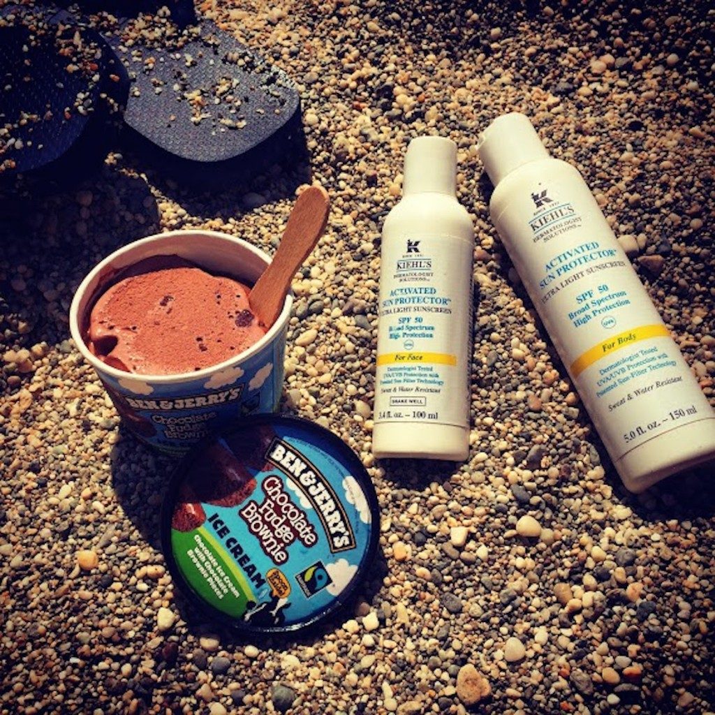 Beach essentials: Havaianas, Ben & Jerry's ice-cream & Kiehl's Activated Sun Protection