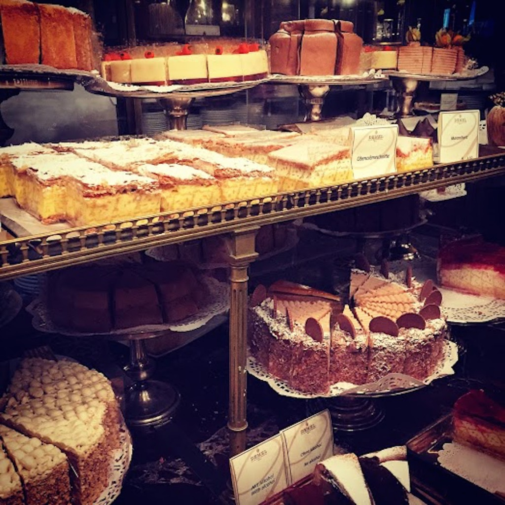 At the legendary Demel pastry shop - Demel is to Vienna what Laduree is to Paris.