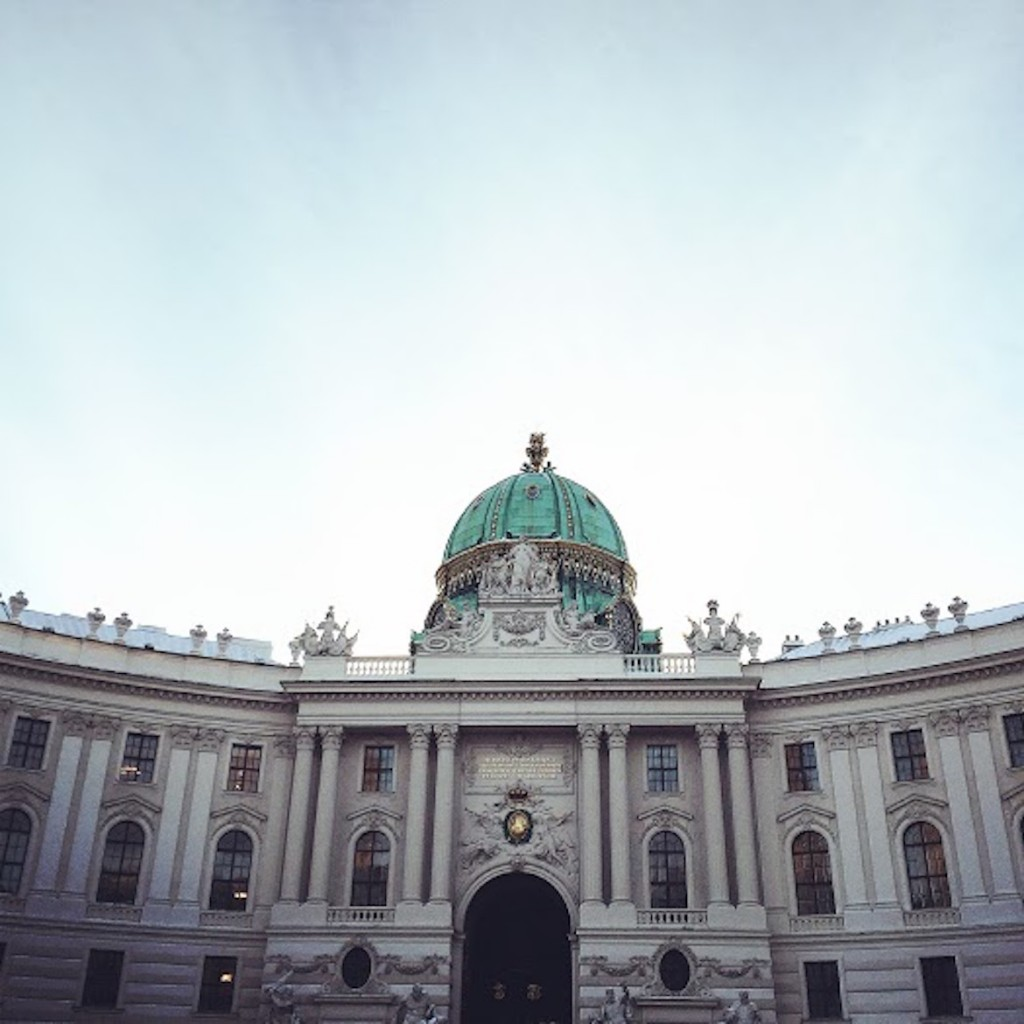 The gate of Hofburg (the palace).