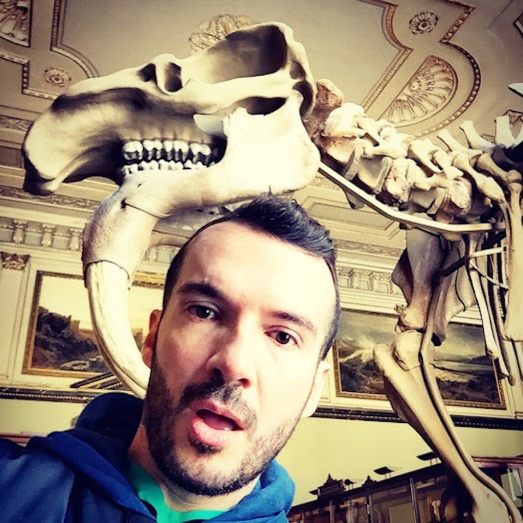 A selfie with an old buddy at Naturhistorisches Museum Wien (Museum of Natural History).