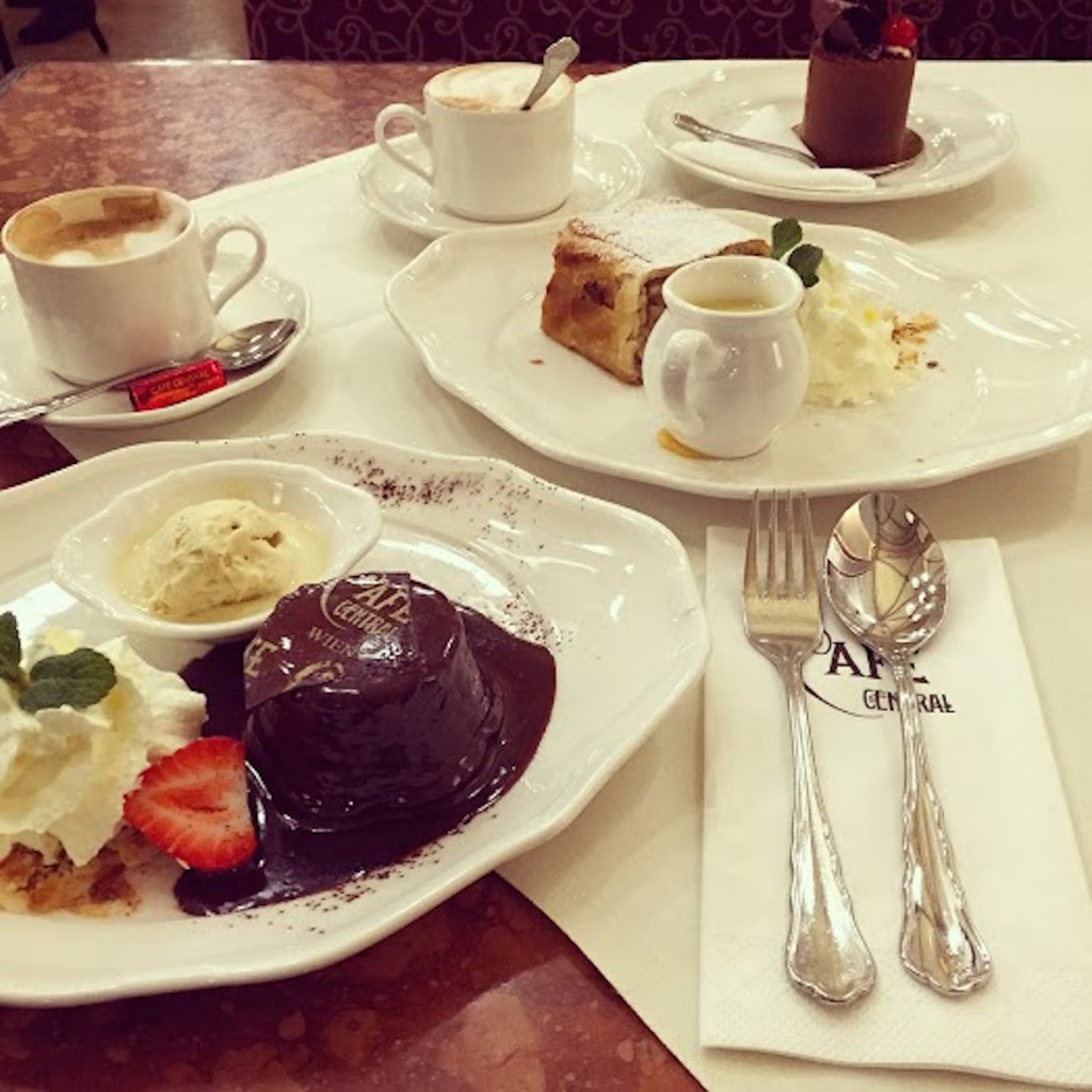 Cafe Central: afternoon coffee & desserts where Mozart used to have it!