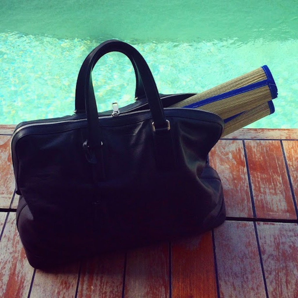 Weekend bag by Jil Sander at Nafplia Palace hotel