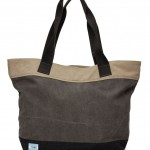 "TOMS canvas ""Departure"" tote in charcoal color."