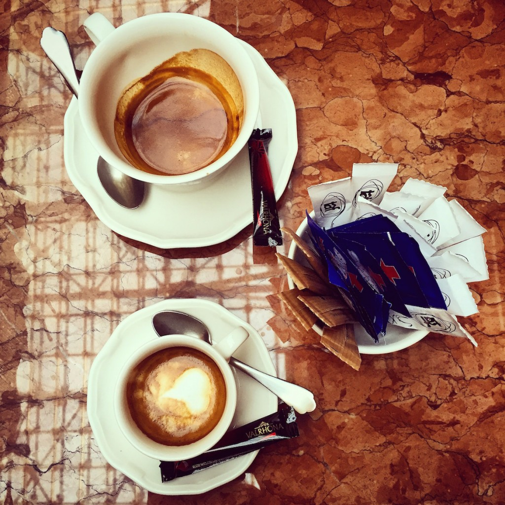 City Bistro Double TAF espresso & TAF macchiato served with Valhrona chocolate on the side... How thoughtful!