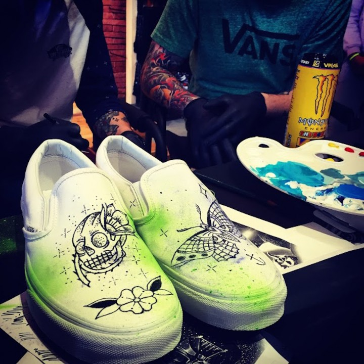 My own customized <i>Vans</i> slip-ons... Isn't that cool?