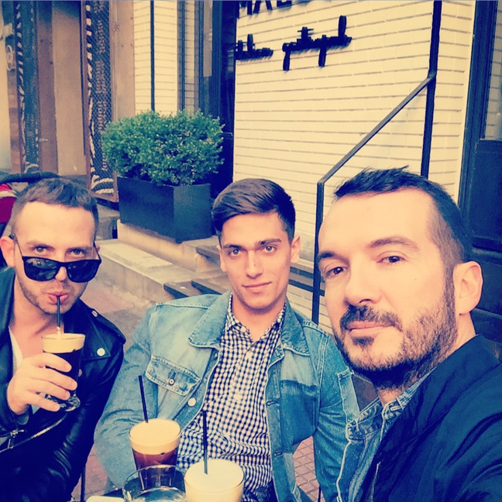 After office coffee & catching up with Michalis & Nikos