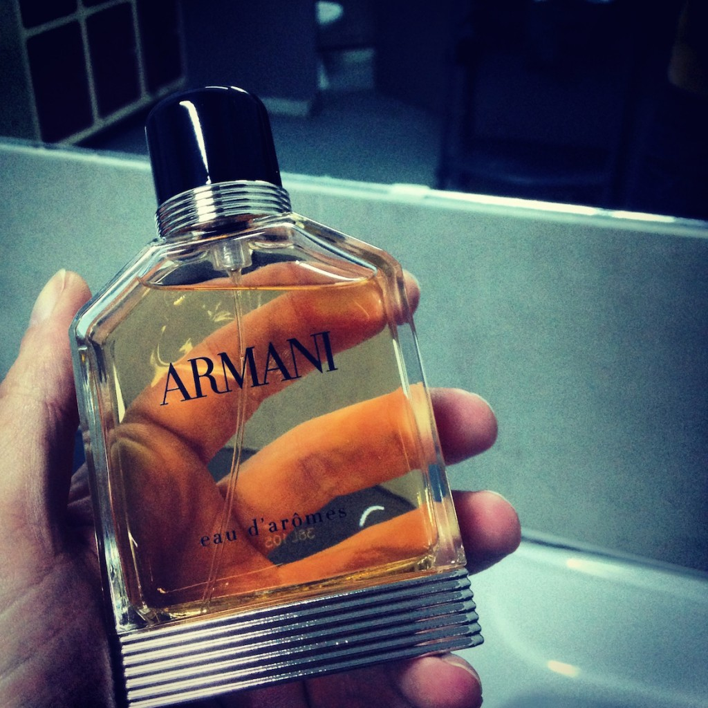 ARMANI Eau d' Aromes - a masculine sexy fragrance & men's best friend.
