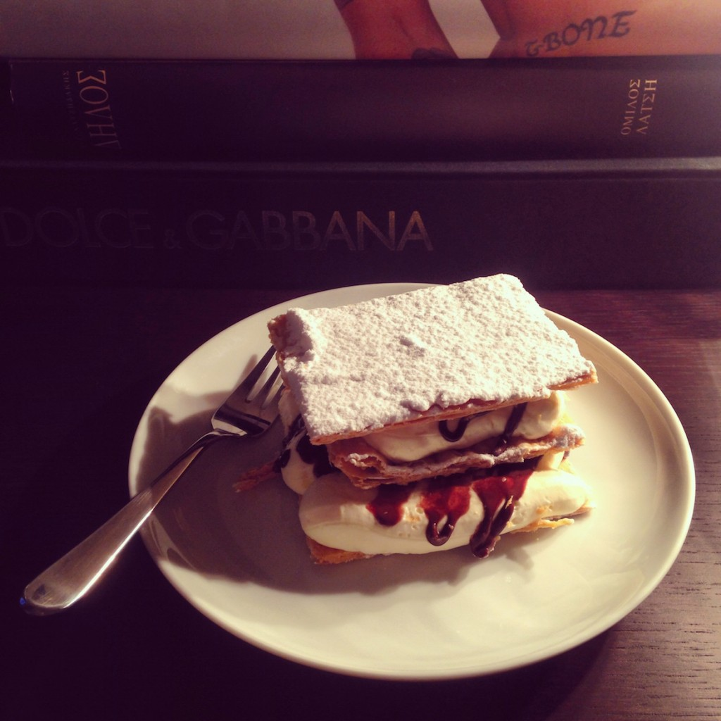 The famous Mille-feuille by Despina patisserie.
