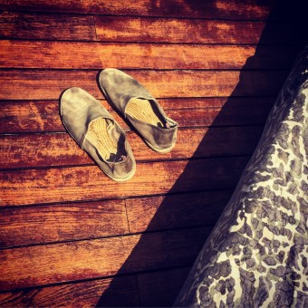 Bohemian just for the weekend - wearing <i>Castaner</i> espadrilles!