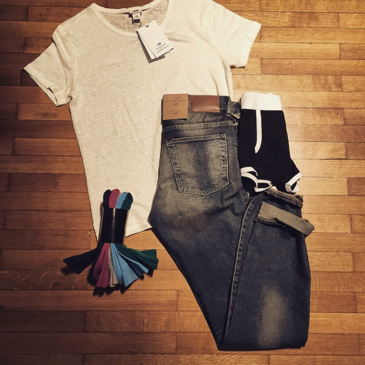 <b>Jeans & white t-shirt</b>: a man's basics by <i>H&M</i>