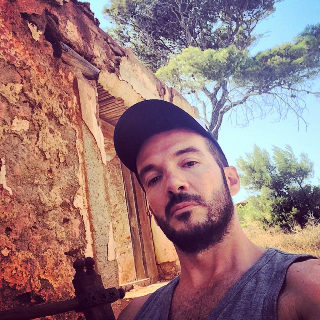 Near Sounion (backstage during a photoshooting for Esquire magazine)