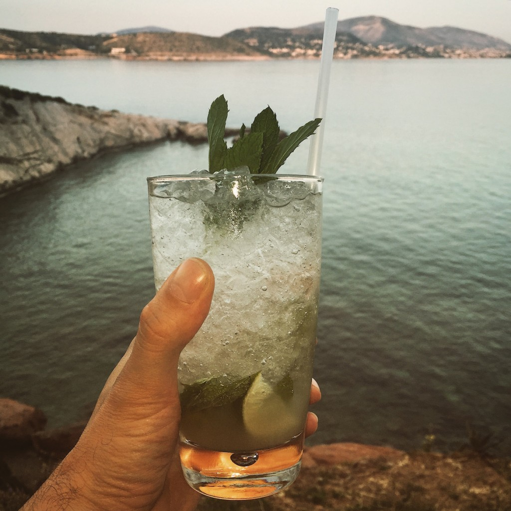 A well-made Mojito at Island C Lounge, Varkiza