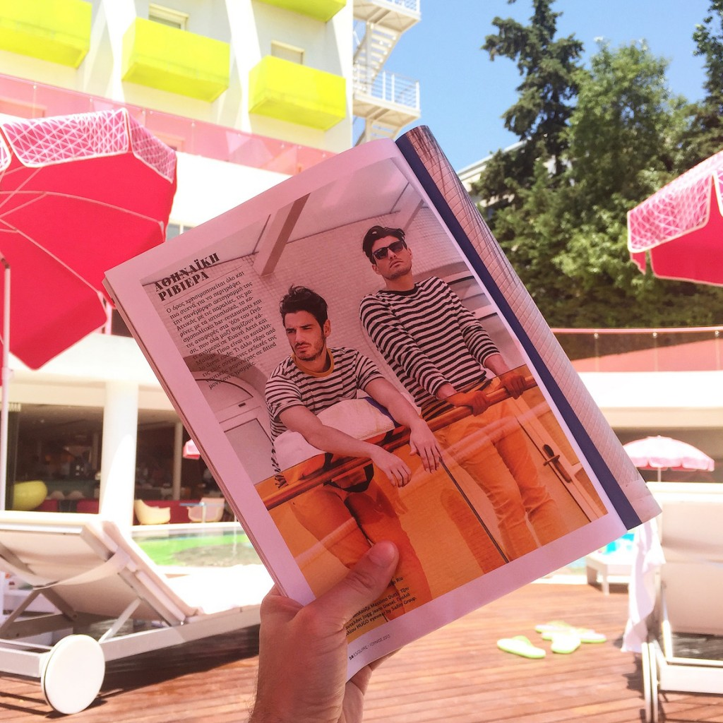 This is a fashion story for Esquire we shot at the miami-like pool area