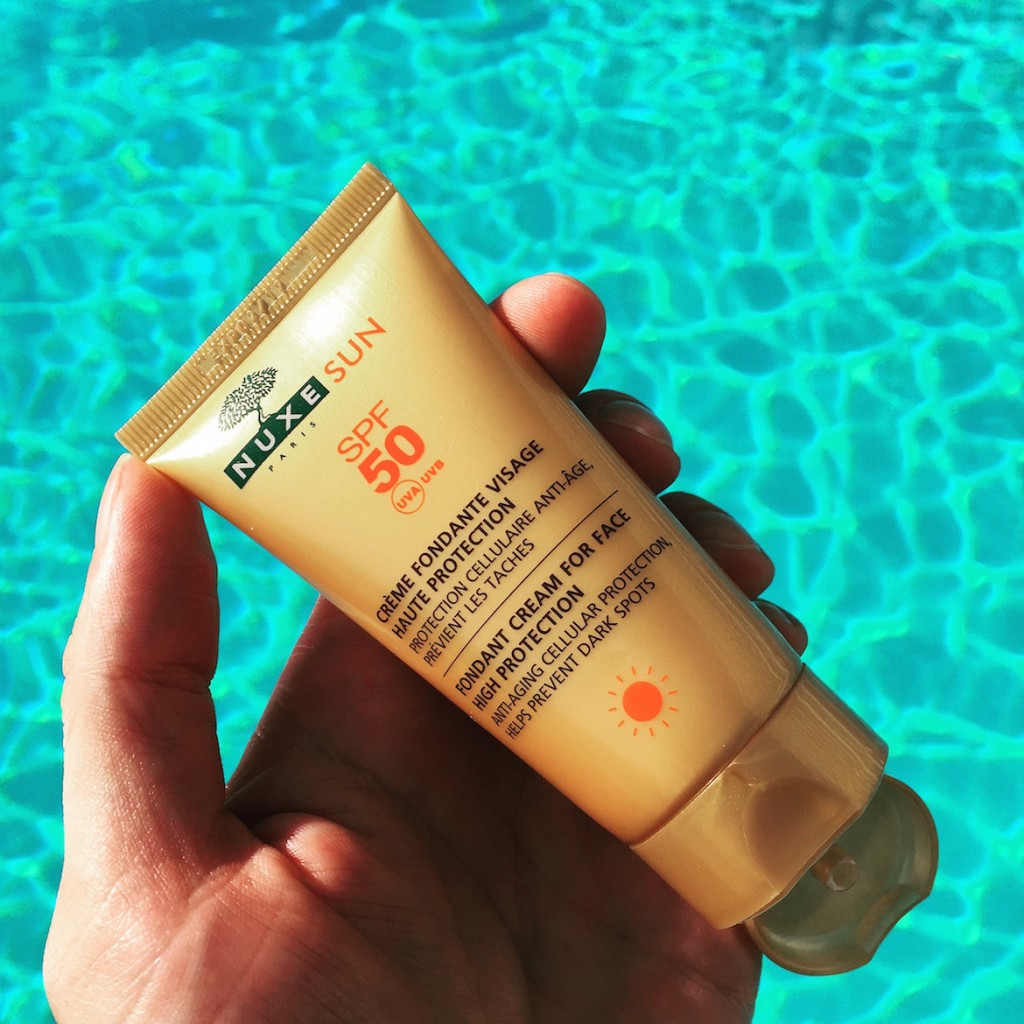 NUXE SPF50 fondant cream for face --- Anti-ageing protection + helps prevent dark spots.