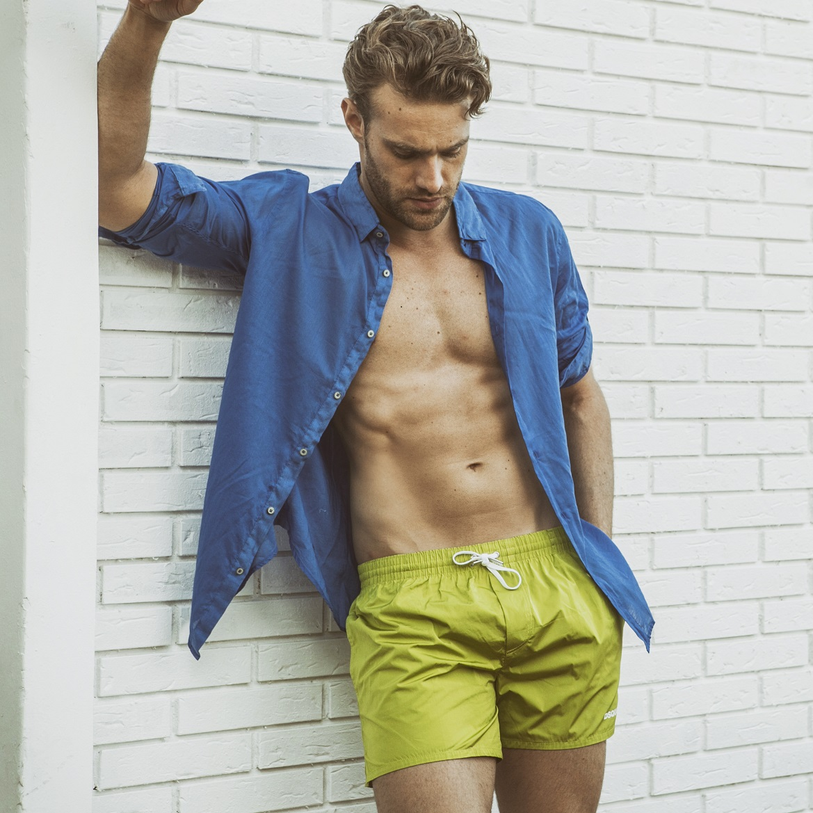Swim-shorts by Dsquared2. Shirt by Zara.