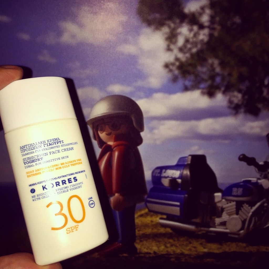 SOS! Definitely go for high sun-protection when camping!