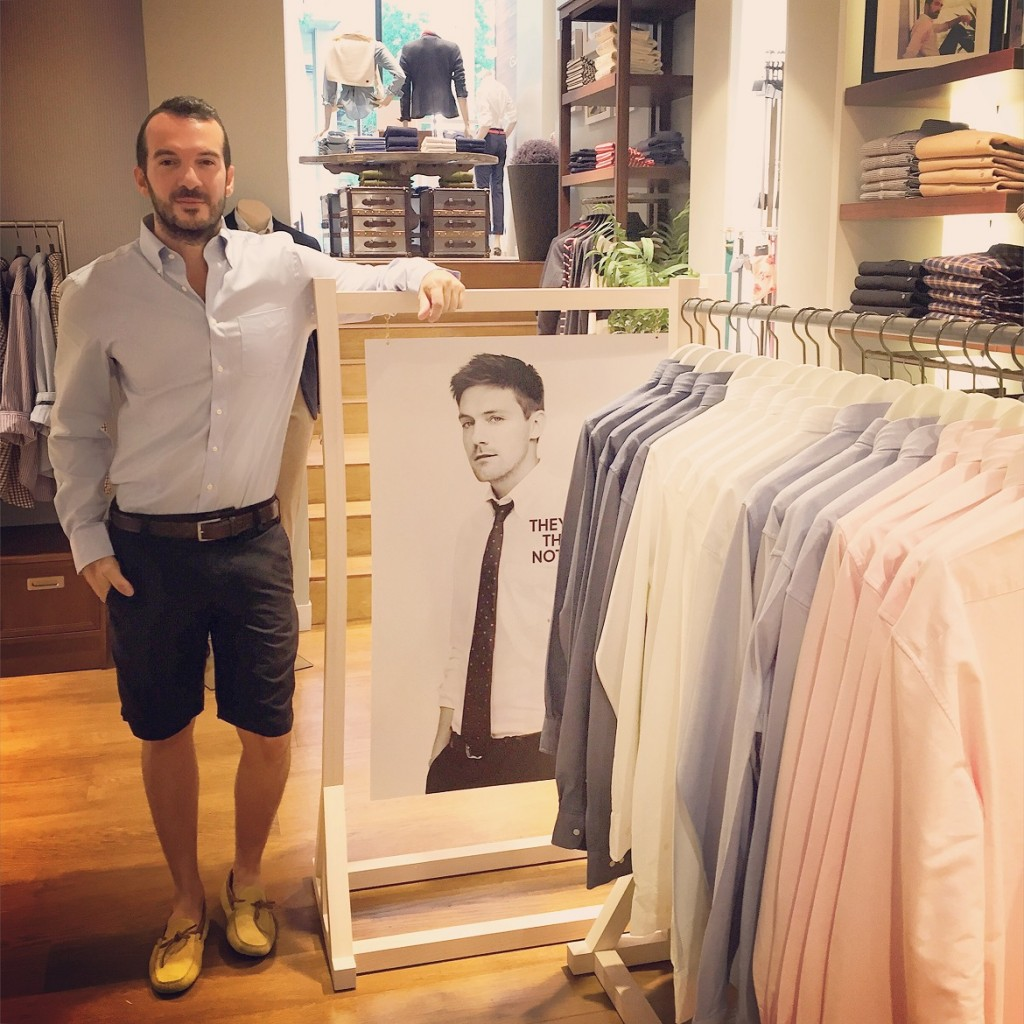 At the Gant store in Kolonaki choosing my shirt from this beautiful range of colours...