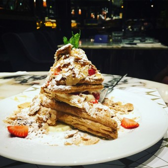 <i>OMG!</i>  Where can I have this extravagant <b>mille-feuille</b>?!