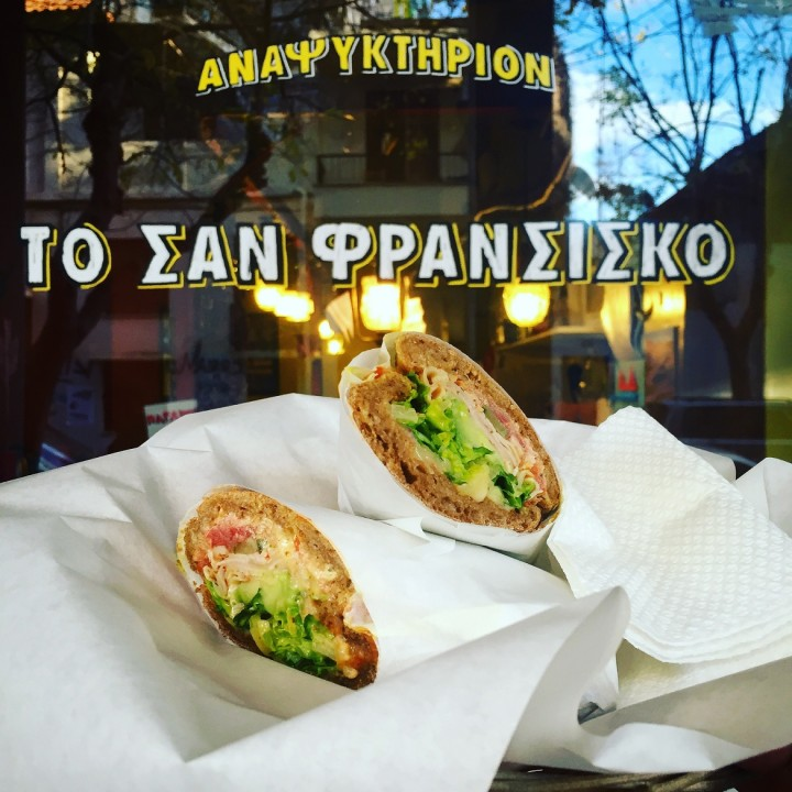 Have you tried the <b>Bayview sandwich</b> at <i>ΣΑΝ ΦΡΑΝΣΙΣΚΟ</i>?!