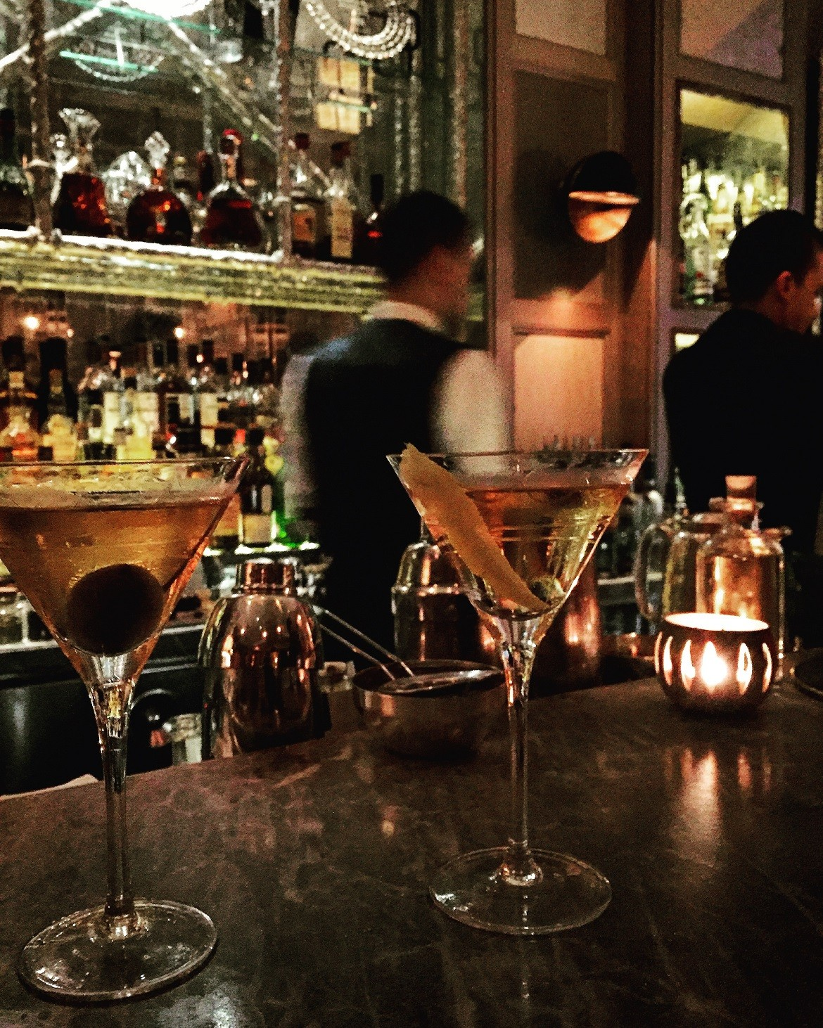 Martinis (quietly stirred not shaken) at the Connaught bar