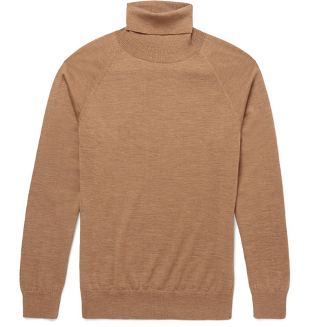 Slim-fit merino wool rollneck sweater by AMI