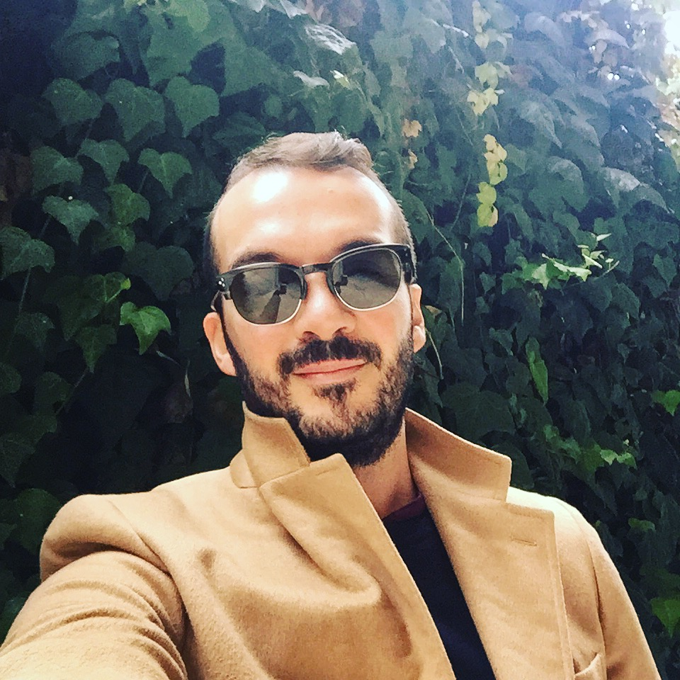 Real camel-hair jacket by PRADA. Sunglasses by HALLY & SON (Bairamoglou)